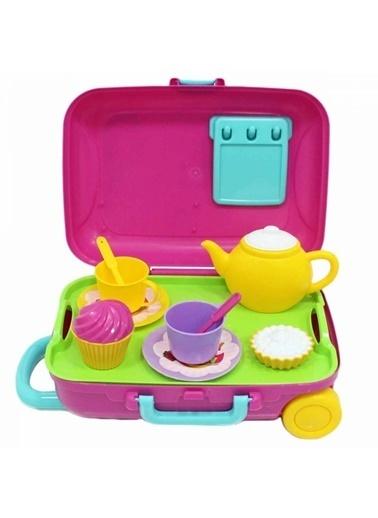 Dede Dede Candyken 12 Parça Evcilik Mutfak Çay Seti Oyuncak Bavulum Renkli